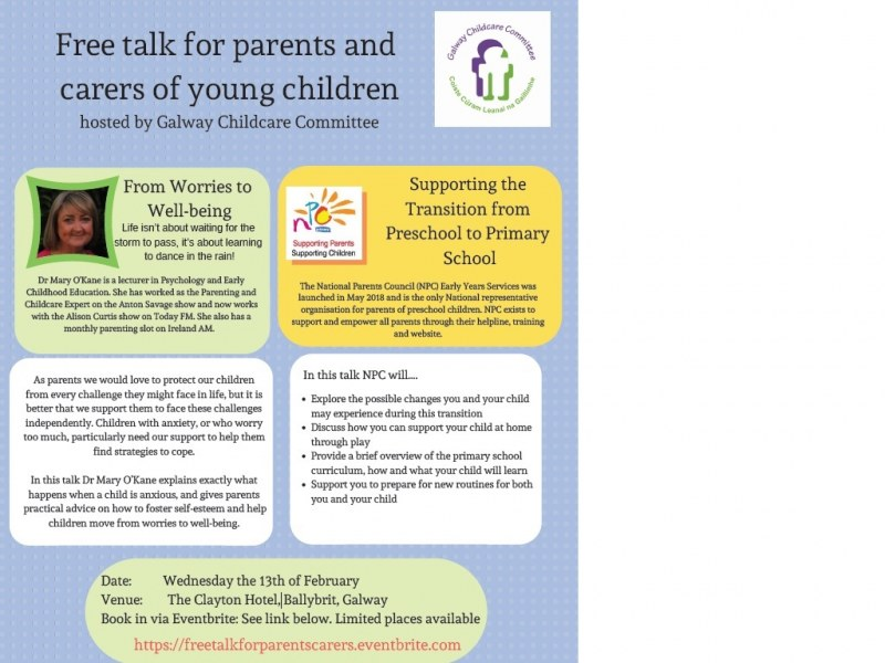 Free talk for parents and carers of young children